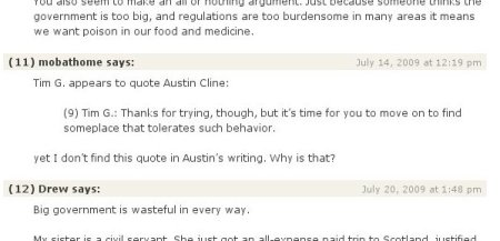 Austin Cline makes an editing gaffe.