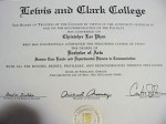 A bachelor's degree, similar to Kevin Drum's bachelor's degree in journalism.